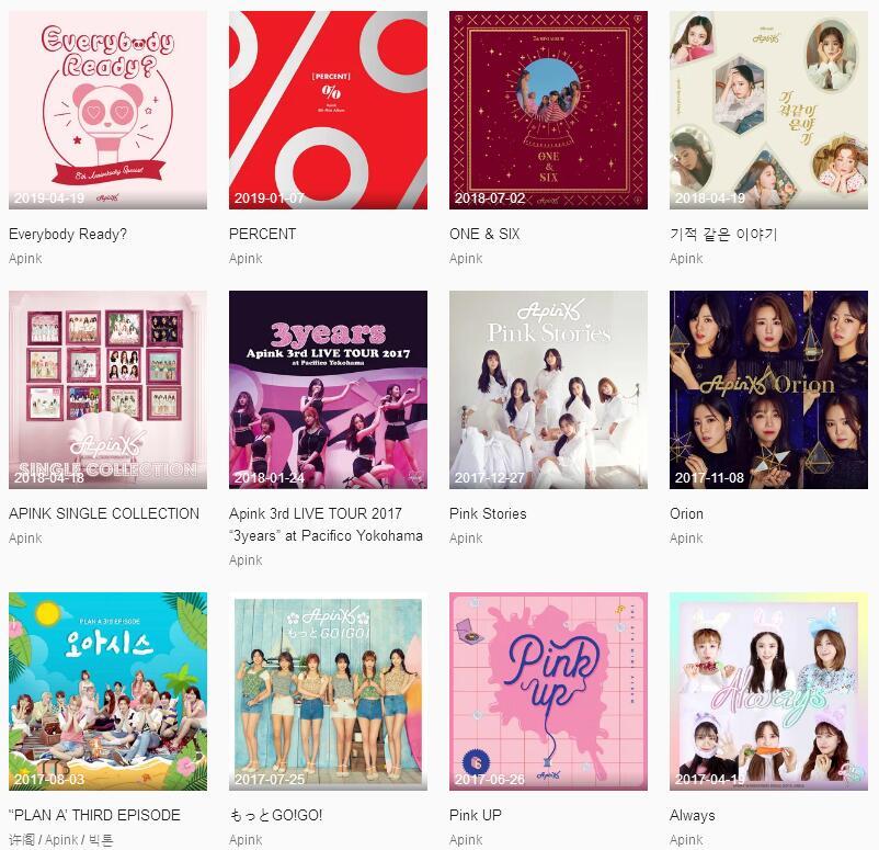 Apink《共42张音乐专辑(2011-2020)》打包合辑mp3版-百度网盘下载-江城亦梦
