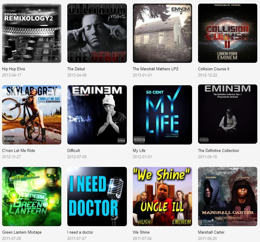 Eminem(阿姆)《共124张音乐专辑+单曲(1996-2020)》打包合辑mp3版-百度网盘下载-江城亦梦
